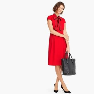 J Crew Tie Neck Dress